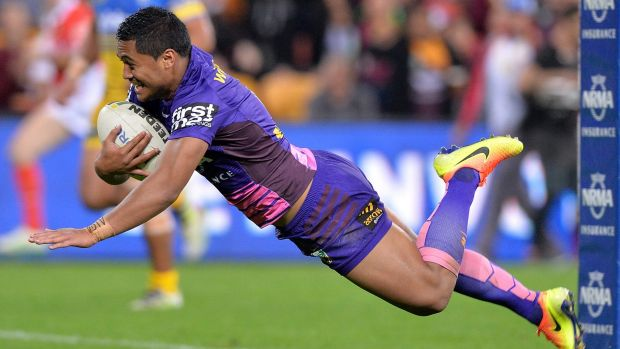 Pivotal: Anthony Milford marks his return to form with a try early in the second half.