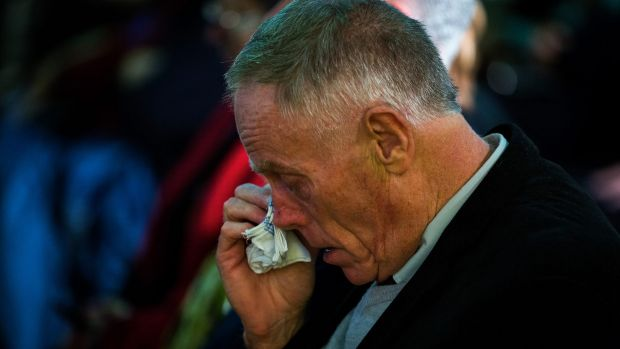 An emotional Rod Lloyd at a service to commemorate 50 years since his uncle, John Lloyd, died in the Salvation Army ...