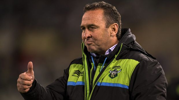 Canberra coach Ricky Stuart liked what he saw from the sideline.