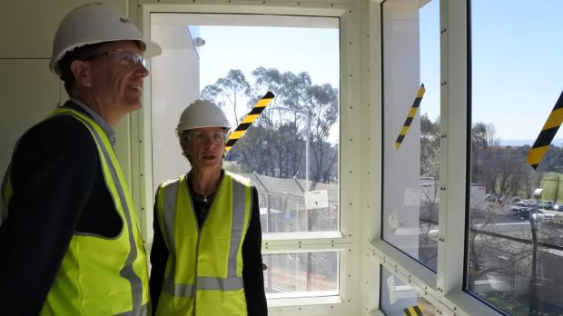 Health minister Simon Corbell looks over the Dhulwa Mental Health Unit, on Mugga Lane in Symonston. Dhulwa means ...