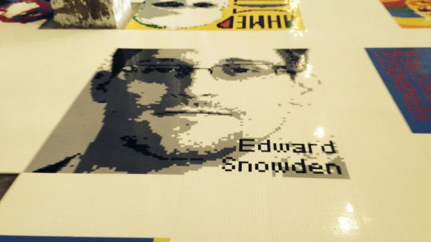 Former NSA contractor Edward Snowden, who leaked classified information and fled to Russia, is depicted in Legos in Ai ...