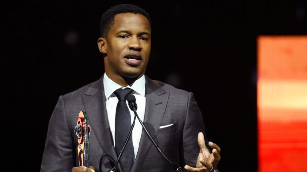 Nate Parker accepts the Breakthrough Director of the Year award at CinemaCon 2016.