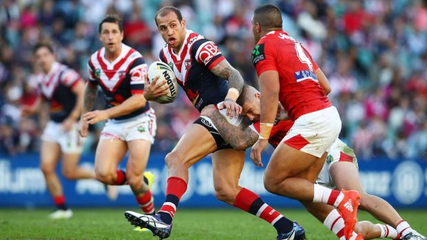 At large: Blake Ferguson on the loose against the Dragons.