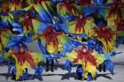 Dancers perform during the closing ceremony for the Summer Olympics in Rio de Janeiro, Brazil.