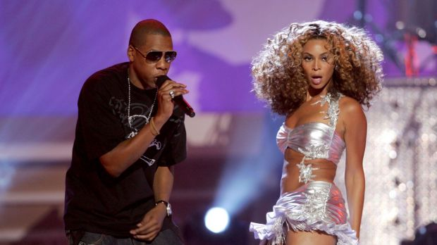 Rapper Jay-Z and singer Beyonce Knowles perform onstage at the 2006 BET Awards at the Shrine Auditorium on June 27, 2006 ...