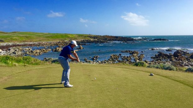 King Island's golf courses attract tourists from around the world.