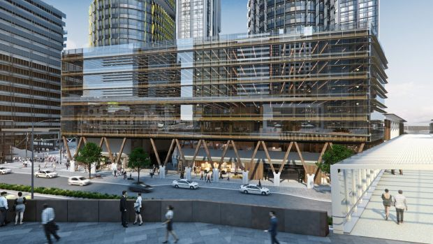 Sydney's first timber office block, International House at Barangaroo, due to open next year.