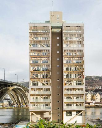 """4. Treet: The 14-storey Treet (""""tree"""") apartment complex in Bergen, Norway, is currently the world's tallest timber ..."""