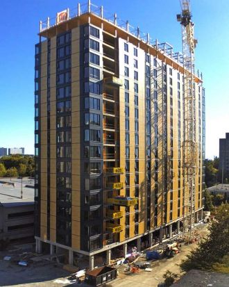 8. Brock Commons Tower: It may look rather plain, but an 18-storey tower designed for student accommodation at the ...