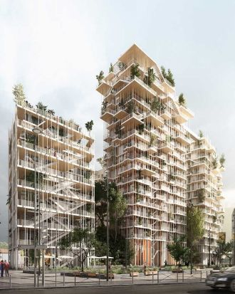3. Hyperion: The Hyperion, named after the world's tallest living tree, is an 18-storey timber tower, one of three ...