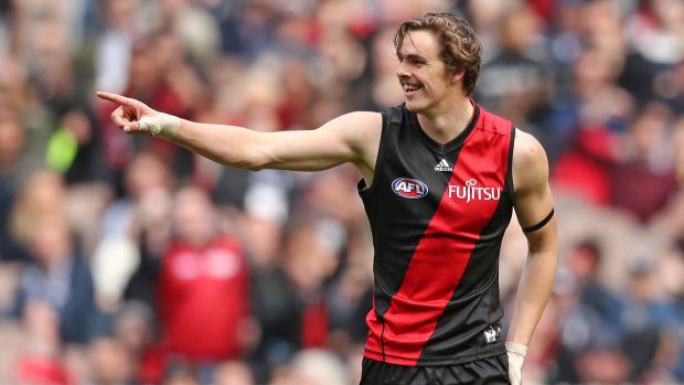 Smokin: Joe Daniher is always a man to watch.