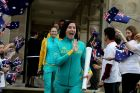 Anna Meares and other Olympic athletes are welcomed home by the Governor General at Admiralty house with members of the ...