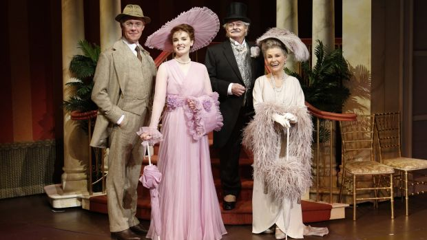 The cast of <i>My Fair Lady</i>, left to right, Alex Jennings, Anna O'Byrne, Reg Livermore, Robyn Nevin.