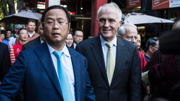 Huang Xiangmo and Prime Minister Malcolm Turnbull.