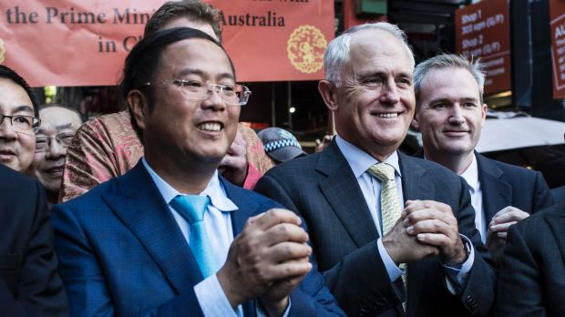 Huang Xiangmo with Prime Minister Malcolm Turnbull in 2016.