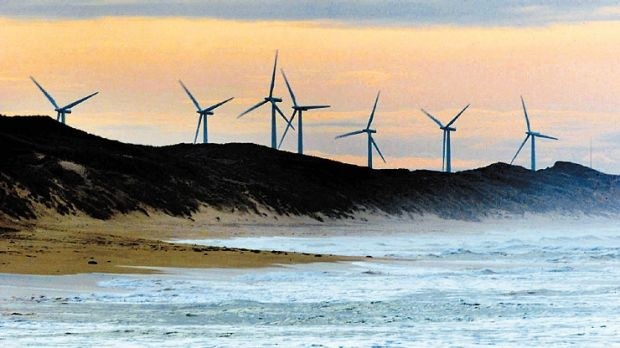Pacific Hydro wind farm at Codrington, south-west Victoria.