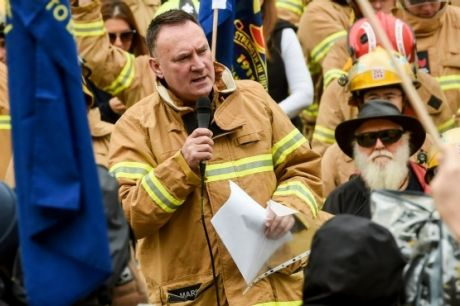 United Firefighters Union secretary Peter Marshall.