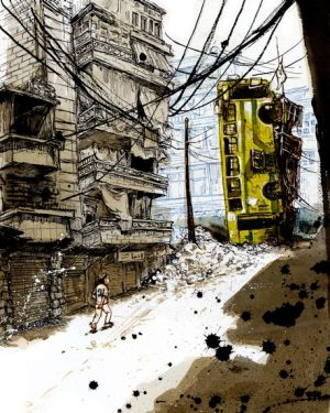 <i>Scenes from the Syrian War</i> by Molly Crabapple.