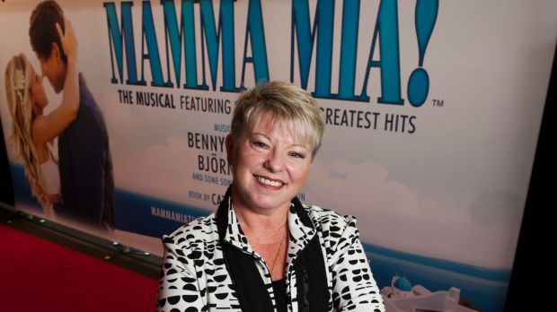 Mamma Mia co-producer Louise Withers at the Canberra Theatre for the announcement of <i>Mamma Mia!</i> in August 2016.
