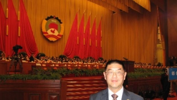 Dr Zhu at a Chinese People's Political Consultative Conference meeting in Beijing, March 2014.