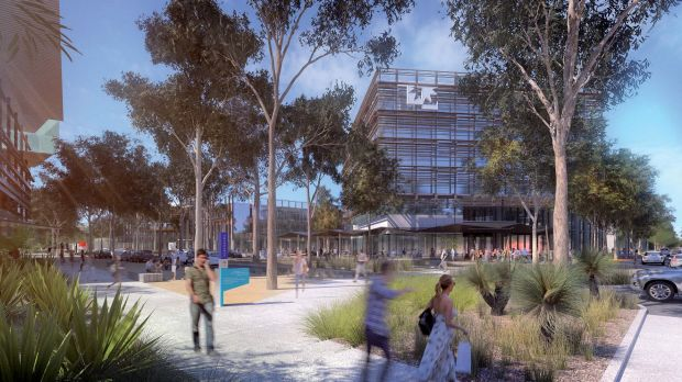 Artists' impression of the Mill at Moreton Bay development, which will include a University of the Sunshine Coast campus.