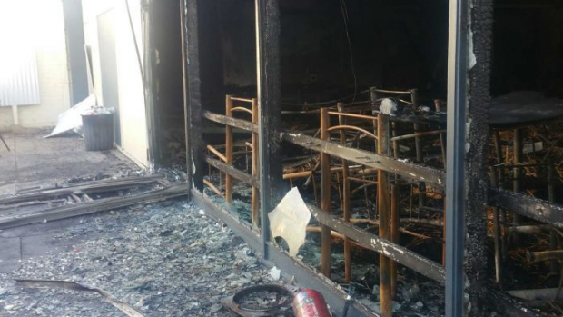 The gutted remains of the Premier Hotel in Albany following an arson attack in May.