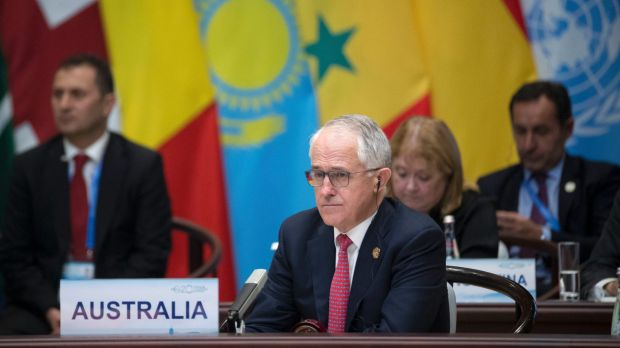 Prime Minister Malcolm Turnbull at the opening ceremony of the G20 Summit in Hangzhou.