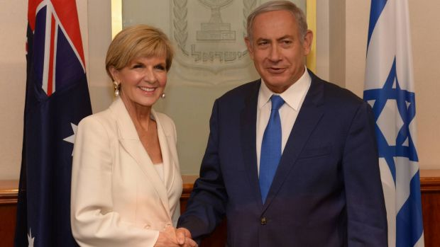 A picture provided by the Israel Government Press Office shows Prime Minister Benjamin Netanyahu meeting with Australian ...