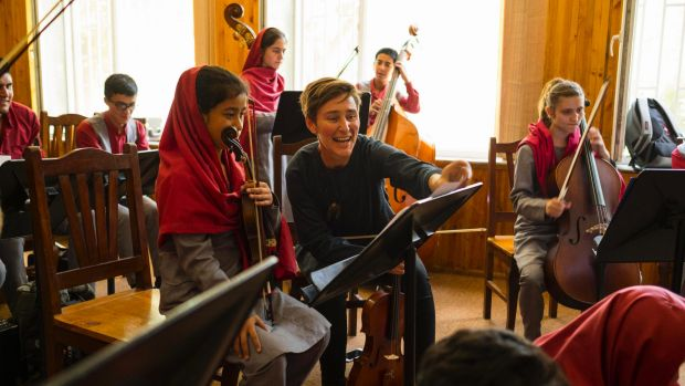Ayres at Kabul's Afghanistan National Institute of Music in June. When he arrived in 2015, he was startled by how much ...