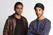 Cleverman: Waruu (Rob Collins) and Koen (Hunter Page-Lochard).
