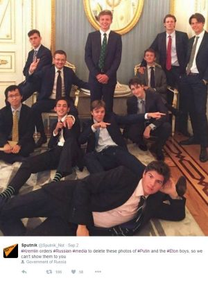 Online propaganda wins attention in a crowded information sphere. Unlikely as it may seem, this picture of Eton ...