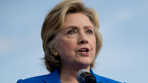 Democratic presidential candidate Hillary Clinton .