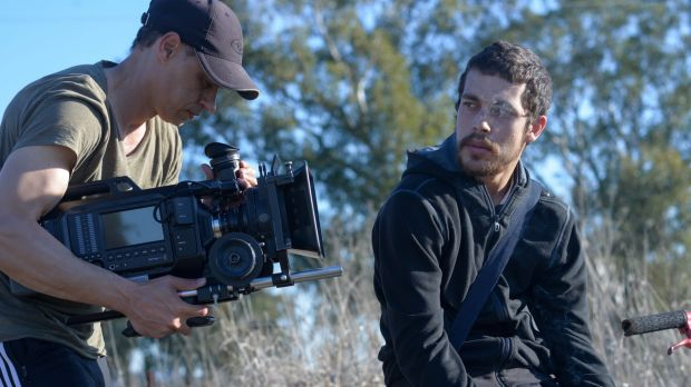 Brandon Waters and Ivan Sen shooting <i>This Winter</i> in Tamworth.