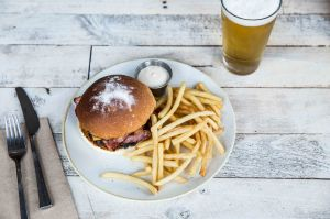 The Pedlar has $15 burger and beer every Saturday.