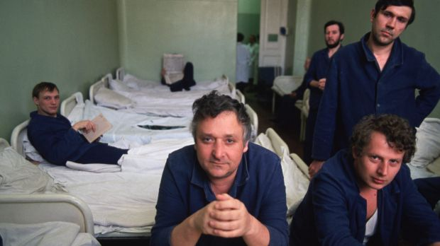 Russian criminals undergo psychiatric evaluations in Russia in an undated photo.