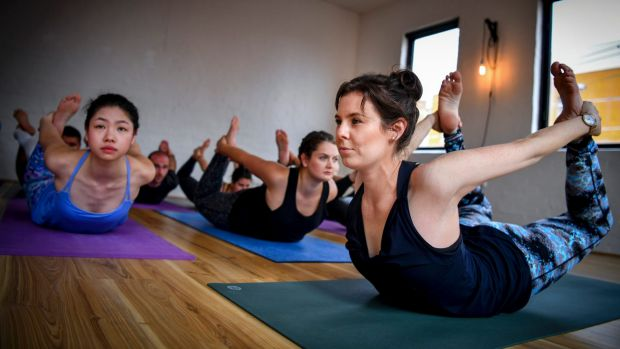 Jessica Dewar has started a yoga studio based on donations.