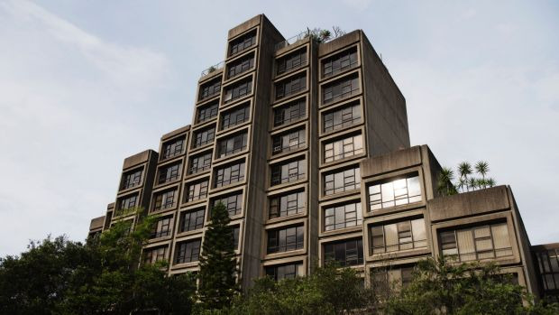 """Poetry in concrete"": The brutalist Sirius Building in The Rocks was built for public housing."
