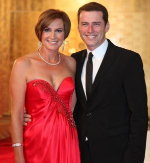 Happier times: Cassandra Thorburn and Karl Stefanovic in 2011.