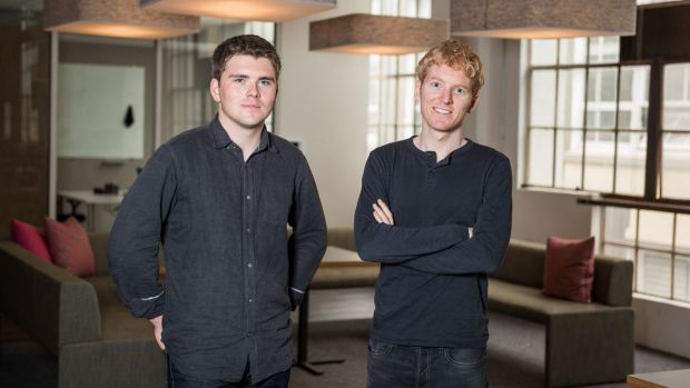 Patrick, right, and John Collison own about 29 per cent of the business, based on an analysis of filings by private ...