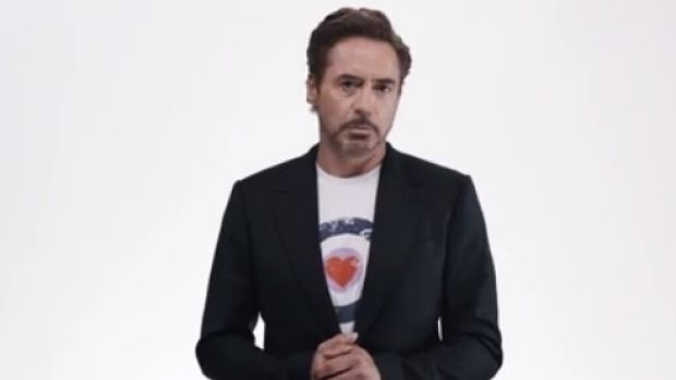 Robert Downey Jr lead the cast of The Avengers in the new ad.