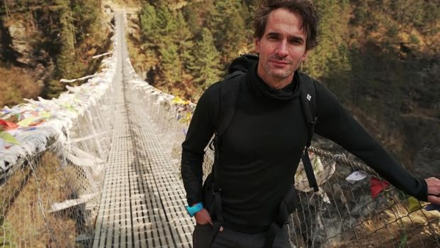 Todd Sampson on location in his series, <i>BodyHack</i>