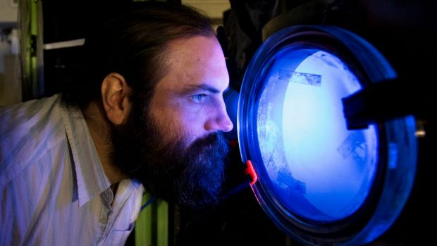 Sydney rocket scientist Paddy Neumann is working on a system of rocket propulsion called ion drive.