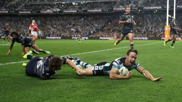 Main man: Maloney's intercept try was the icing on the cake in what was a huge victory.