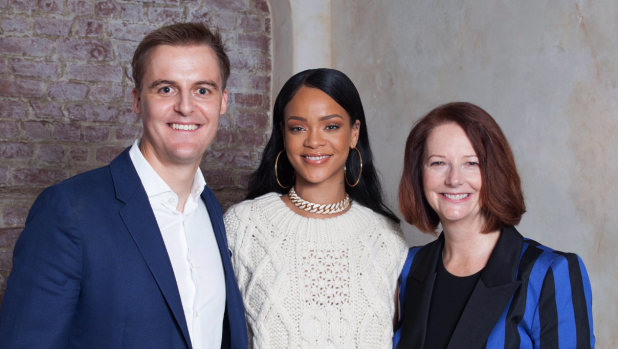 Rihanna tweets Malcolm Turnbull to pledge $200m to Julia Gillard's education charity