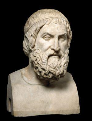 Bust of Sophocles Marble, 220-160 CE, Italy in <i>A History of the World in 100 Objects</i>, National Museum of Australia