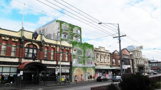 The proposed Sydney Road apartments.