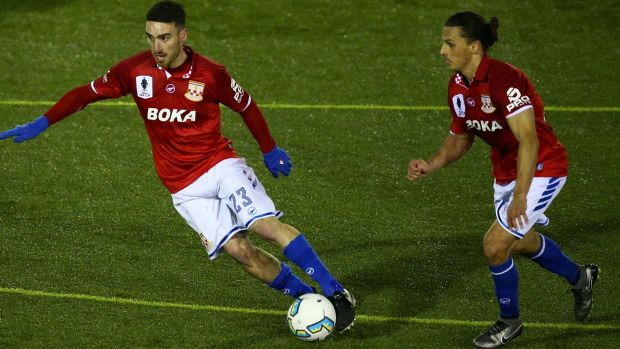 Panagiotis Nikas in action for Sydney United, who won this year's NSW minor premiership.