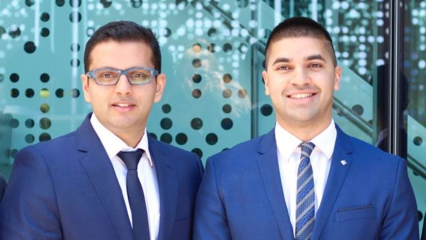 "Founders of the CancerAid app, Dr Raghav Murali-Ganesh (left) and Dr Nikhil Pooviah, aim to ""put the power within the ..."