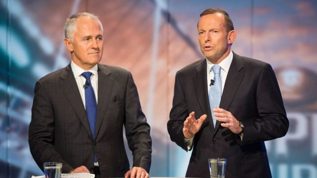 """I told him and told him"": Malcolm Turnbull and Tony Abbott get technical."