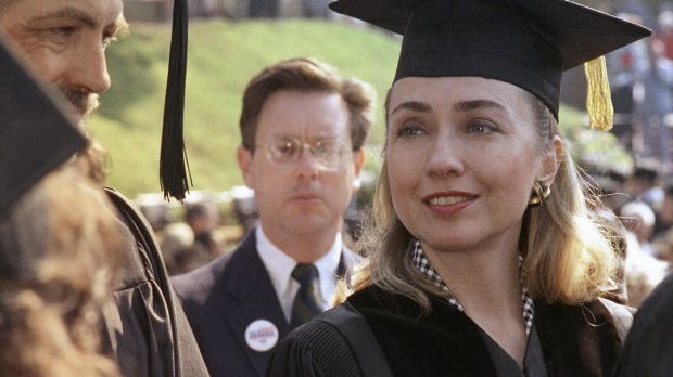 High achiever: Hillary Clinton receives a honorary doctor of laws degree from Hendrix College in Arkansas just months ...